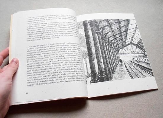 Náhled černobílé ilustrace v knize
