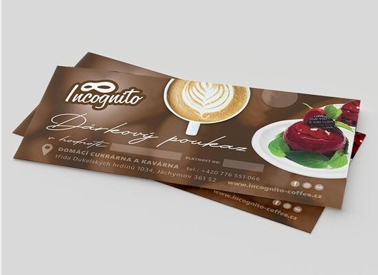 Vouchery pro kavárnu v Jáchymově Incognito coffee.