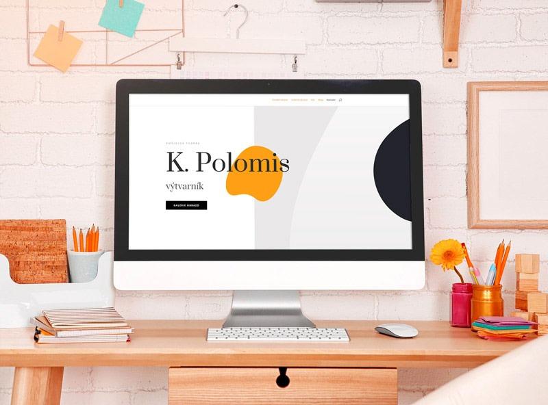 Webové stránky pro umělce Karla Polomise