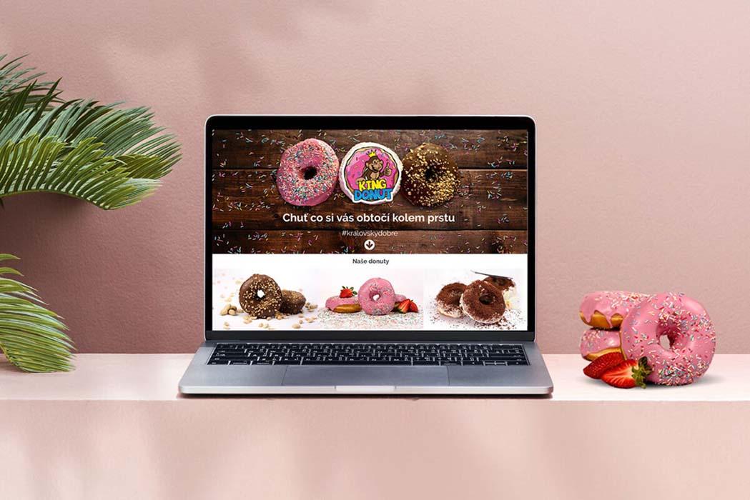 Webové stránky King Donut