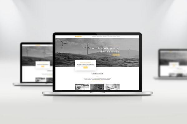 Webové stránky Montravel, zobrazení na notebooku